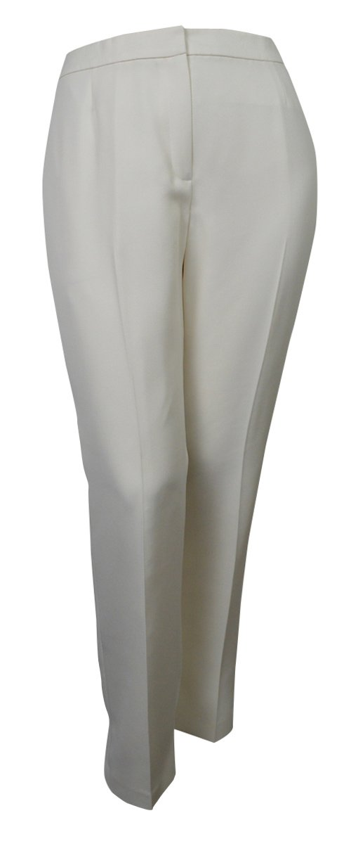 Evan Picone Women's City Chic Textured Three Button Pant Suit (8, Ivory) by Evan Picone (Image #3)
