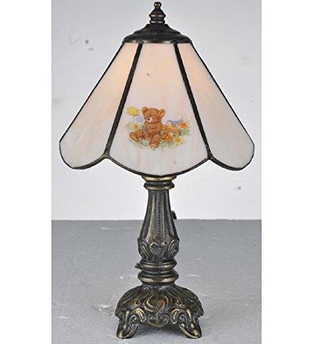 - Meyda Tiffany 107809 Teddy Bear Mini Table Lamp, 11.5