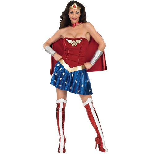 Rubie's Women's Deluxe Wonder Woman Costume, Multicolor,