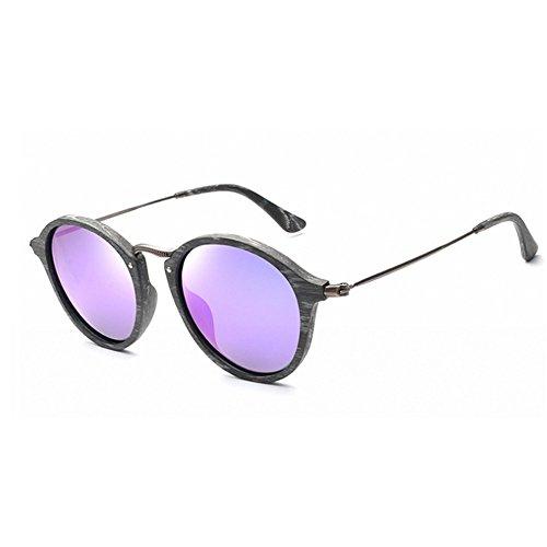 del ojos Gafas sol los unisex hombres sol sol de polarizadas sol de Gafas de de Lente Retro de de marco la Gafas madera de sol Púrpura de colorida gafas c las de mujeres Gafas gato de UV para de la protección RwaxFZHg