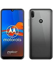 """Motorola E6 Plus (display max vision 6.1"""", dual camera 13 MP, 4/64 GB, Android 9.0, Dual SIM ) - Polished Graphite"""