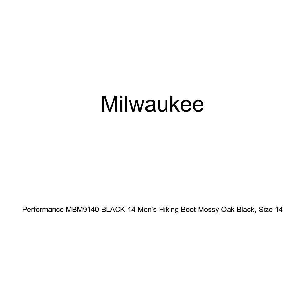 Milwaukee Performance Mens Hiking Boot with Mossy Oak Black Size 14 MBM9140-BLACK-14