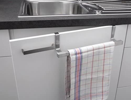 Fackelmann Towel Rail, stainless steel, rust-proof, silver, 24-40cm
