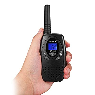FLOUREON Walkies Talkies Two Way Radios Long Range 1-3 Mile Distance UHF Handheld 2 Set (Black): GPS & Navigation
