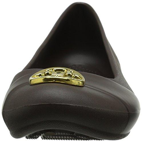 Femme gold Espresso Beige Ballerines Crocs Pour Aqzwgz