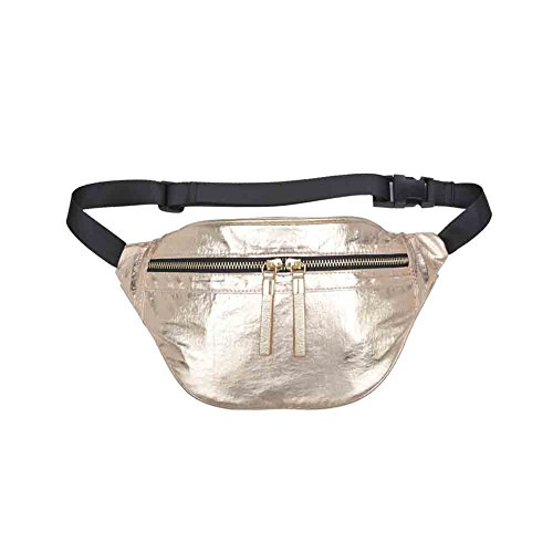 Sol and Selene Water Repellent Metallic Glitz and Glam Belt Bag - Assorted Colors (Glam Metallic Belt)