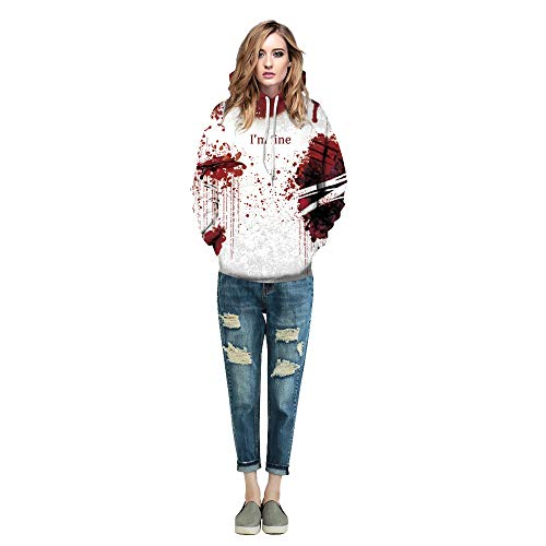 Simayixx Sweatshirts for Women Scary Halloween Party Hoodie
