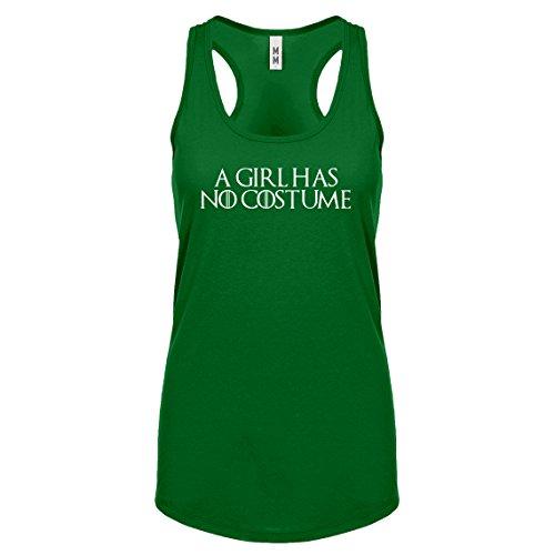 Racerback A Girl Has No Costume Medium Kelly Green Womens Tank Top ()