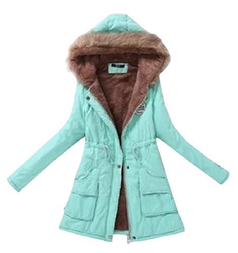 Sleeve Pocketed Drawstring Winter Mid Long Jacket Women Pattern7 Velvet XINHEO Long WYTESXB