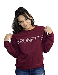 ValDesigns Brunette Unisex Sweatshirt with Print on The Front
