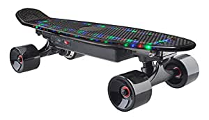 "Egoodbest LED Electric Skateboard with Wireless Control 22"" Rider Weight Up To 180 Lbs Black"