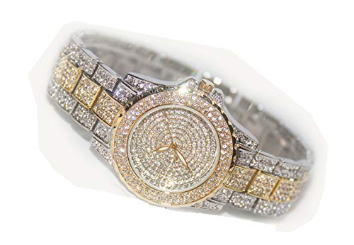 - Jechin Fashion Women's Luxury Diamond Crystal Bling Bling Starry Sky Dress Watches