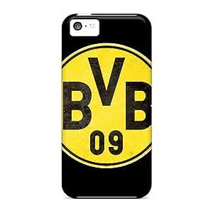 LauraAdamicska Iphone 5c Protector Hard Phone Case Provide Private Custom High-definition Borussia Dortmund Pattern [mjQ3359nXjf]