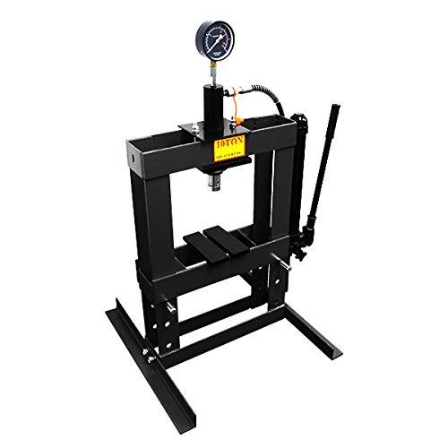 10トン 油圧プレス メーター付 門型プレス機 10ton 黒 B00NPJBJ26