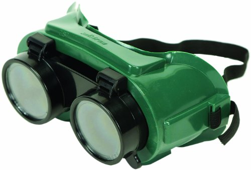 Sellstrom 85340 PVC Indirect Vent Lift Front Cover Welding Goggle Body, 50mm Diameter Shade 4 IR Lens, Green