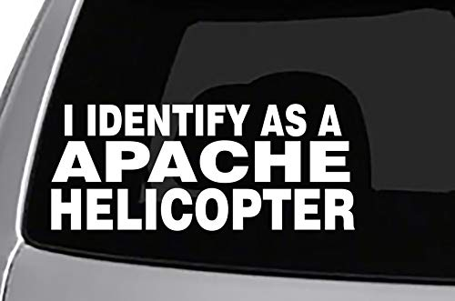 Seek Racing Identify AS A Apache Helicopter Decal Funny -