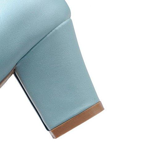 AllhqFashion Mujer Colores Surtidos Sintético Tacón Medio Puntera Cerrada Puntera Redonda De salón Azul