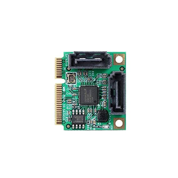 """Buyyart Mini PCIe mSATA to 2.5"""" SATA iii Converter Adapter Card Module Board 7+15 22 Pin SATA 6G Support 50mm"""