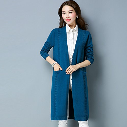 The Outside In To Medium Brick Long Term Jacket Women Xuanku Sweater Pocketl Red Ground Of Solid Sweater The Long In The Color Liberal On adq4WnWP