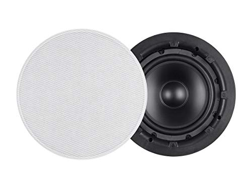 Monoprice Ceiling Speaker 8-inch Subwoofer with Dual Voice Coil (Each) - Aria Series