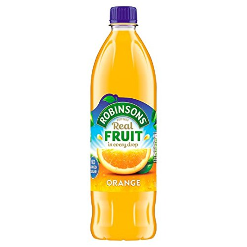 Added Orange Juice - Robinsons Orange No Added Sugar 900ml (Pack of 4)