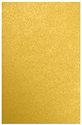 """LUXPaper 11"""" x 17"""" Paper for Crafts and Cards in 81lb. Fine Gold Metallic, Scrapbook Supplies, 50 Pack (Gold)"""