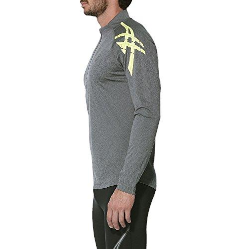 ebaf9445d ASICS Stripe 1 2 Zip Camiseta técnica de Manga Larga