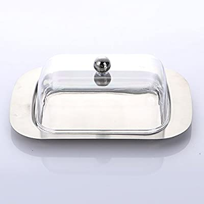 Earthware eco friendly plates Stainless Steel Butter Dish Box 1pcs EC69