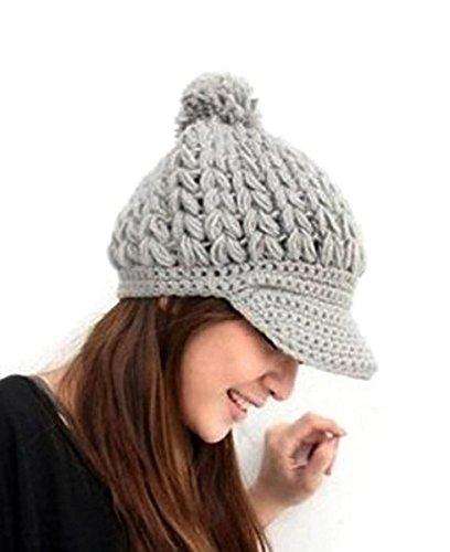 Amazon Imixcity Women Girl Slouchy Cabled Pattern Knit Beanie