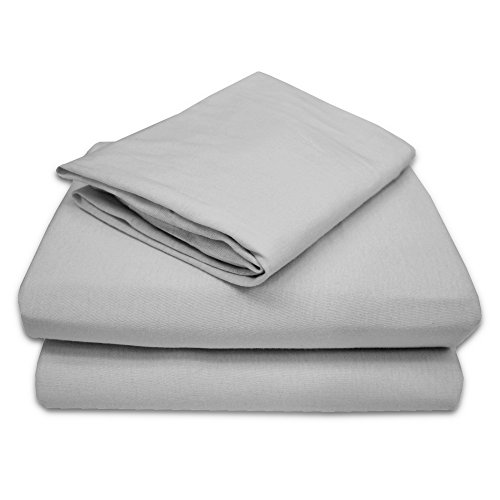American Baby Company 100% Natural Cotton Jersey Knit Toddler Sheet Set, Gray, Soft Breathable, for Boys and Girls