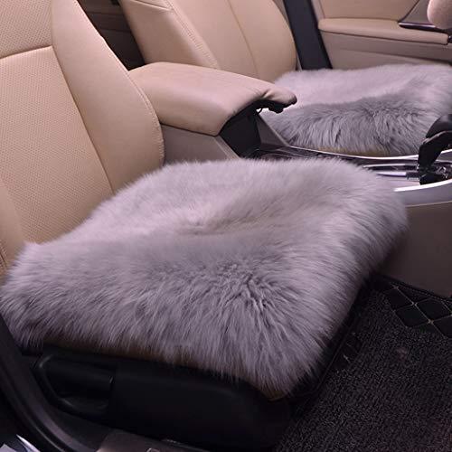 - MaxFox Faux Fur Sheepskin Car Seat Pad Chair Cover Winter Warm Artificial Wool Hairy Cushion Rug Carpet for Home Bedroom,Toilet (Gray)