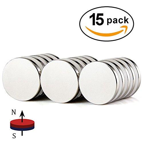 Powerful Neodymium Disc Magnets, Strong, Permanent,Rare Earth Magnets,Fridge,DIY, Scientific,Craft and Office Magnets,50% Stronger Than N35 Rare Earth Magnets - 1.26