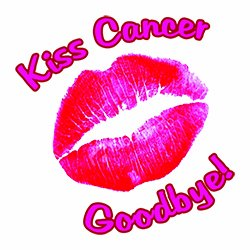 Kiss Cancer Goodbye Temporary Tattoo (10 Pack)
