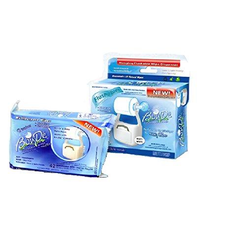 Boude Wipes CFB-AC-JCEV Hanging Flushable Wipe Dispenser, 42