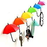 SWAB Colorful Umbrella Key Holder, Key Hanger,Wall Key Rack,Wall Key Holder,Key Organizer for Keys, Jewelry and Other Small Items(03 Pcs)