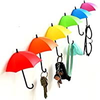 SWAB Colorful Umbrella Key Holder, Key Hanger,Wall Key Rack,Wall Key Holder,Key Organizer for Keys, Jewelry and Other Small Items