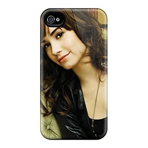 Awesome Demi Lovato 4 Flip Case With Fashion Design For Iphone 4/4s