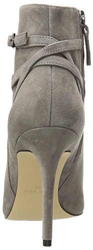 Nine West Womens Talen Leather Dress Sandal Grey