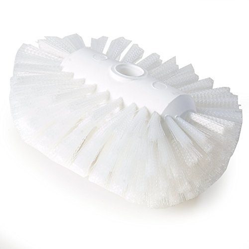 Carlisle 4004102 Sparta Spectrum Flare Head Tank and Kettle Brush, Polyester Bristles, 7-1/2'' Length x 5-1/2'' Width, White (Pack of 12) by Carlisle
