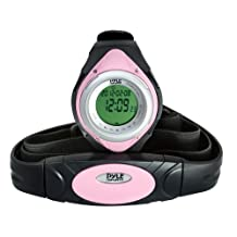 Pyle Sports PHRM38PN Heart Rate Monitor Watch (Pink)