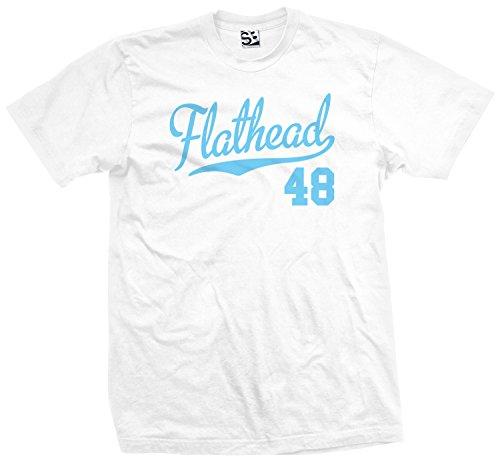 (Shirt Boss Unisex Flathead 48 Script & Tail Biker T-Shirt 5XL White / Light)