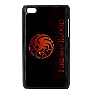 Fire and Blood Targaryen Dragon Custom Design Apple Ipod Touch 4 Hard Case Cover phone Cases Covers
