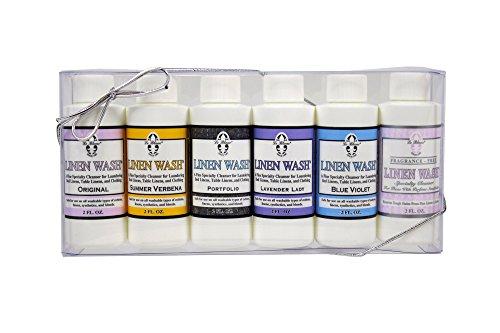 (Le Blanc® Linen Wash Gift Set - Six 2 FL. OZ. Sample Bottles of All Linen Wash Fragrances, One Pack)