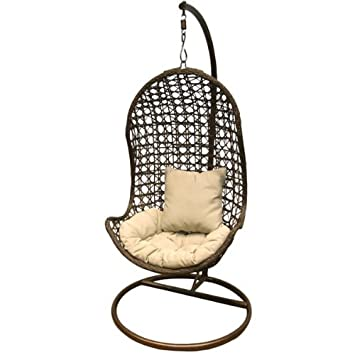 hanging swing pod chair garden furniture black colour