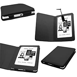 Quaroth SAMRICK - WHSmith Kobo Glo eReader - Executive Specially Designed Leather Book Wallet Case with Leather Sleeve...