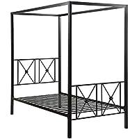 Homelegance Rapa Metal Canopy Twin Bed, Black