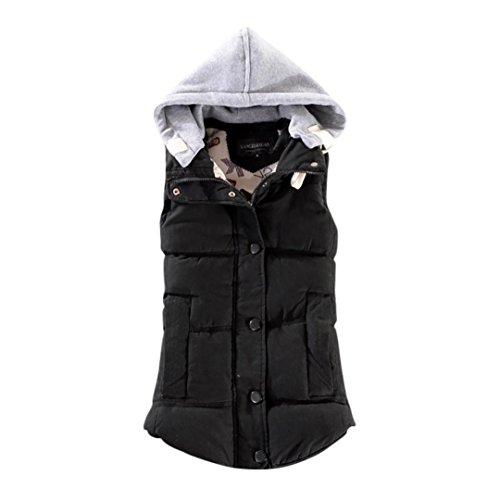 Women+Plus+Size+Warm+Vest%21+Tootu+Female+Sleeveless+Jacket+Cotton+Solid+Hooded+Vest+%28Black%2C+3XL%2FAsian+Size%3A4XL%29