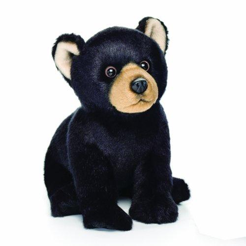 Nat and Jules Black Bear Plush Toy, Small (Woodland Plush)