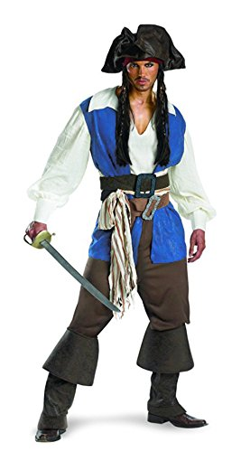 [NonEcho Jack Sparrow Pirate Costume for Adult Men] (Sea Siren Sexy Costumes)