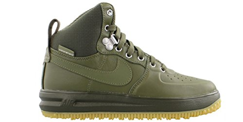 Nike Lunar Force 1 Sneaker Boot Medium Olive/Medium Olive (Big Kid) (6 M US Big Kid)